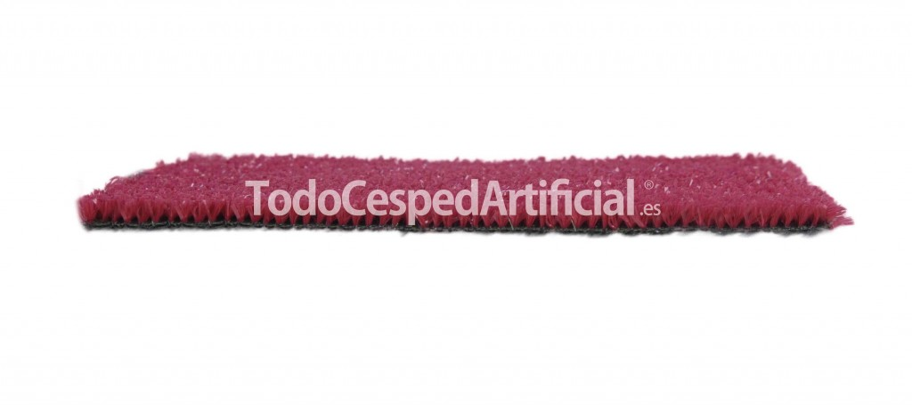 cesped artificial color rojo