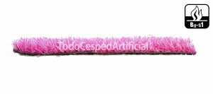 Césped artificial de color rosa