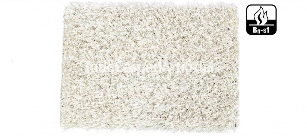 Césped artificial de color blanco